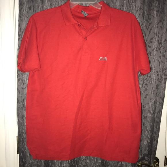 Vintage Shirts Le Tigre Polo Shirt Tiger Logo Red Euc Poshmark